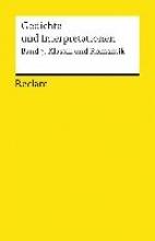 Gedichte und Interpretationen 3. Klassik und Romantik