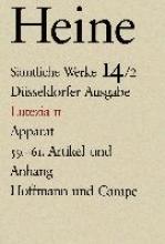 Heine, Heinrich Lutezia II. Apparat. 59. - 61. Artikel und Anhang