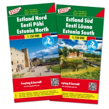 , F&B Estland West en Oost 2-kaartenset