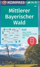KOMPASS-Karten GmbH , KOMPASS Wanderkarte Mittlerer Bayerischer Wald 1:50 000