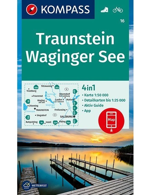 Kompass-Karten Gmbh,Traunstein, Waginger See 1:50 000