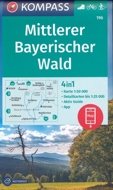 KOMPASS-Karten GmbH,KOMPASS Wanderkarte Mittlerer Bayerischer Wald 1:50 000