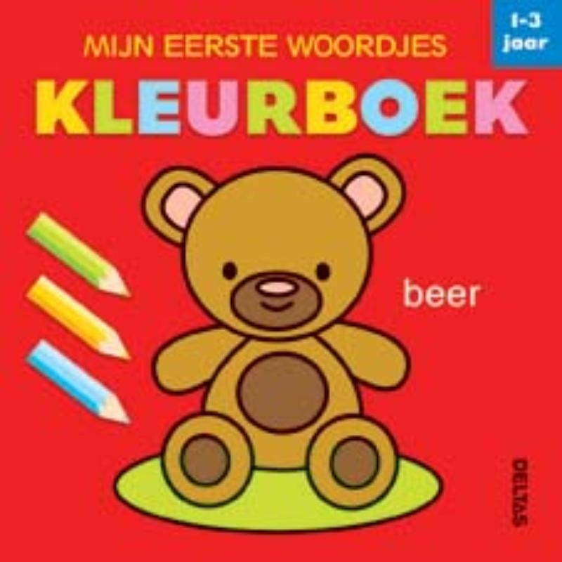 ,Mijn eerste woordjes kleurboek 1-3 jaar