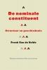 <b>F. Van de Velde</b>,De nominale constituent