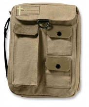 Single Compartment Cargo Khaki Large Book And Bible Cover