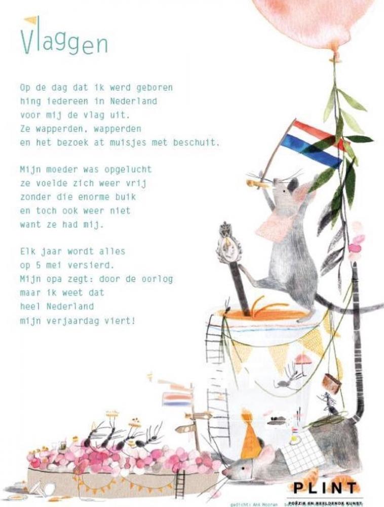 Ank  Mooren,Plint 10 Poëziekaarten `Vlaggen` Ank Mooren en Ruth Hengeveld