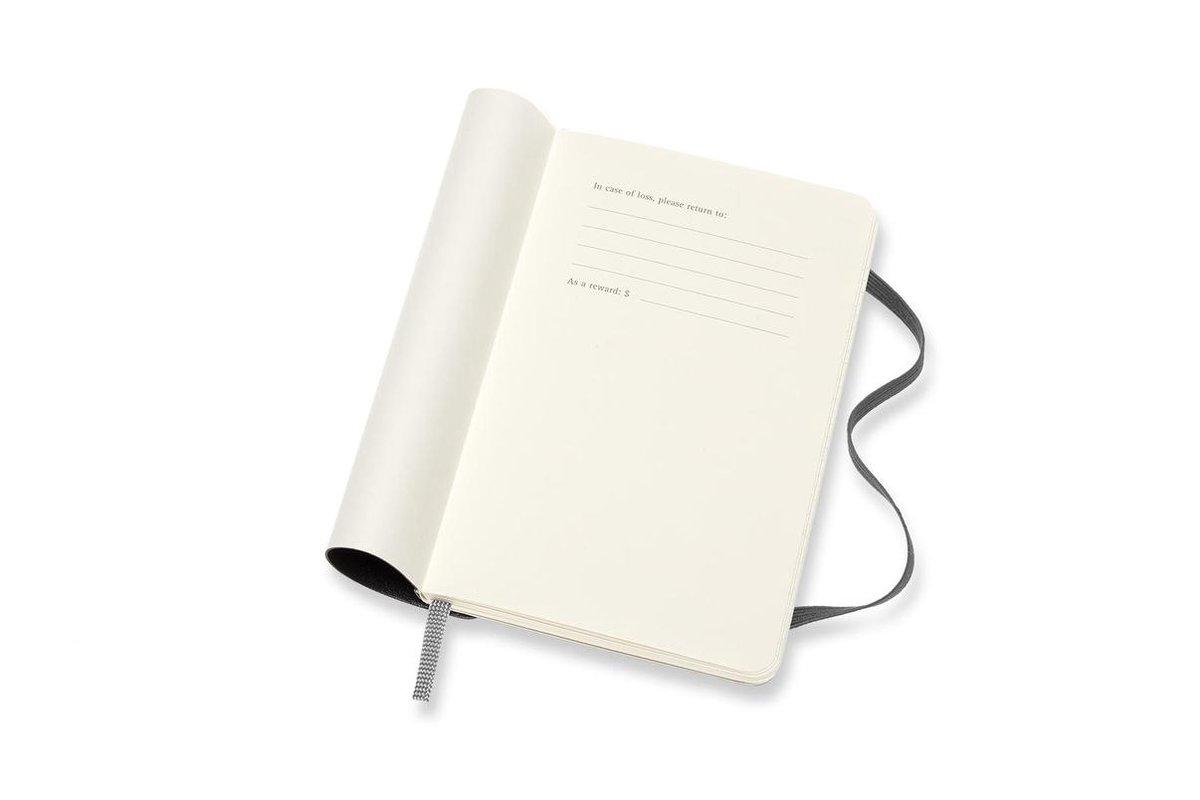 ,Moleskine 18 MND Agenda - 2020/21 - Maandelijks - Pocket (9x14 cm) - Zwart - Zachte Kaft