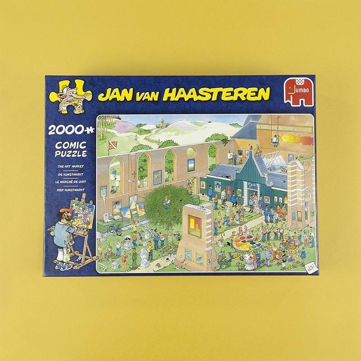 ,Jan van Haasteren De kunstmarkt - 2000 stukjes