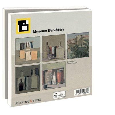 Wmc841,Notecard met env.  15x15 10 stuks giorgio morandi