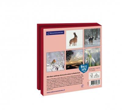 Wmc1015,Kerstkaart mapje 10 stuks met env natuurmonumenten winter