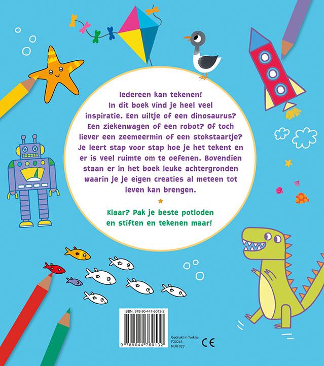 Susannah Bailey,Het leukste kleur- en tekenboek 5-8 j.
