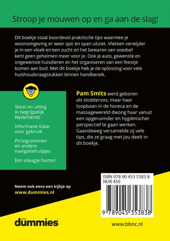 Pam Smits,De kleine huishoudtips voor Dummies