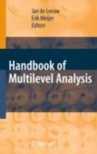 Jan de Deleeuw,   Erik Meijer Handbook of Multilevel Analysis