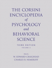 Craighead, W. Edward The Corsini Encyclopedia of Psychology and Behavioral Science, Volume 4