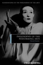 Davies, David Philosophy of the Performing Arts
