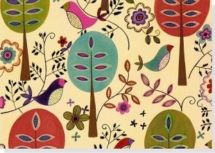 Folk Art Birds Boxed Notecards