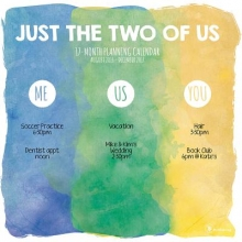 Just the Two of Us 17-Month Planning 2016-2017 Calendar