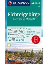 Kompass-Karten Gmbh , Fichtelgebirge, Bayreuth, Marktredwitz 1:50 000