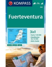 KOMPASS-Karten GmbH , KOMPASS Wanderkarte Fuerteventura 1:50 000