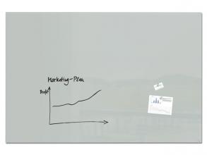, Glasmagneetbord Artverum grijs 1800x1200x18mm incl.2        magneten