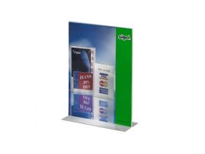 , tafelstandaard Sigel glashelder A4 recht