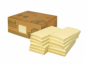 , Info Notes 125x75mm geel recycled doos a 12 blok