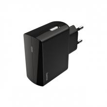 , Oplader Hama USB-A 1X 2.4A zwart