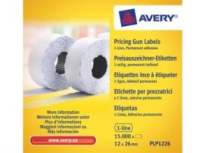 , prijstangetiketten Avery permanent 26x12mm wit 10 rol in    doos