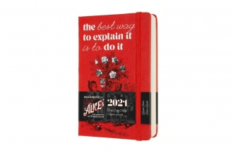 , Moleskine 12 MND Agenda - 2021 - LE Planner -  Alice In Wonderland - Dagelijks - Pocket (9x14 cm) - Cards