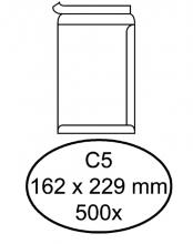 , Envelop Hermes akte C5 162x229mm zelfklevend wit 500stuks