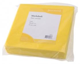 , Werkdoek Non Woven geel 38x40cm 10 stuks