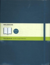 Moleskine Classic Colored Notebook, Extra Large, Plain, Underwater Blue