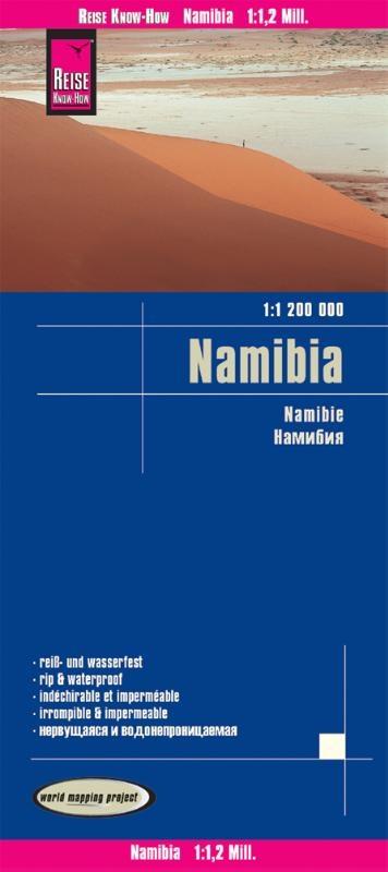 ,Reise Know-How Landkarte Namibia 1 : 1.200.000