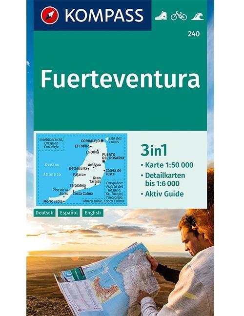 KOMPASS-Karten GmbH,KOMPASS Wanderkarte Fuerteventura 1:50 000