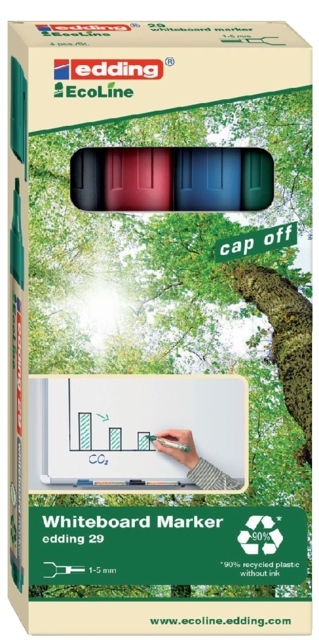 ,Viltstift edding 29 whiteboard Eco schuin ass 1-5mm à 4st