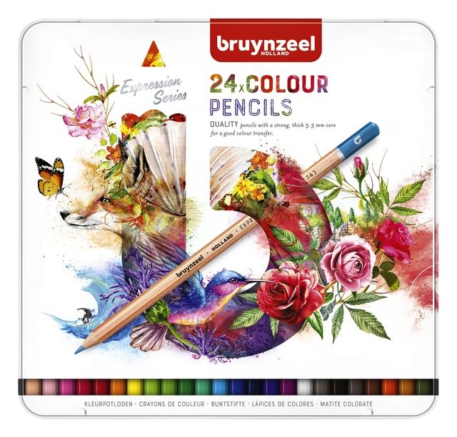 ,Kleurpotloden Bruynzeel Expression colour blik à 24 stuks