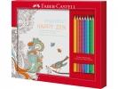 ,kleurset Faber Castell met 8 grip kleurpotloden en 1        kleurboek happy zen