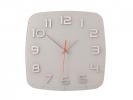 ,Wandklok NeXtime 30 x 30 x 3.5 cm, glas, wit, `Classy       Square`