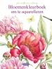 Janneke  Brinkman-Salentijn,Bloemenkleurboek om te aquarelleren