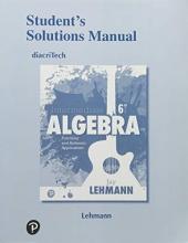 Jay Lehmann Student`s Solutions Manual for Intermediate Algebra
