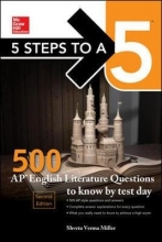Miller, Shveta Verma 5 Steps to a 5 500 AP English Literature Questions to Know by Test Day