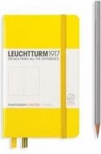 , Leuchtturm notitieboek pocket 90x150 dots yellow
