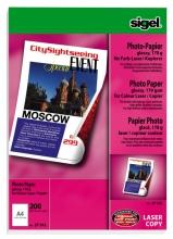 , fotopapier Sigel kleurenlaser A4 hoogwit glans 170gr 200vel