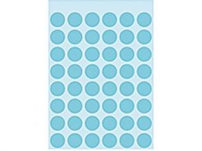 , Etiket Herma 1863 rond 12mm blauw 240stuks