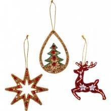 , Kerst hanger glitter ass.