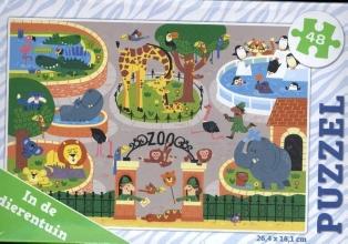 , In de dierentuin - puzzel 48 stukjes