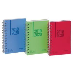 ,Schoolagenda 2020-2021 1d/pag wireo assorti roze-lichtblauw-lichtgroen