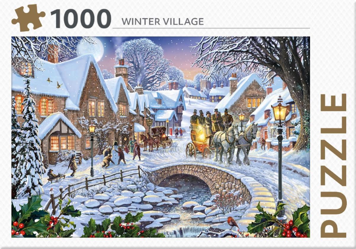 ,Rebo legpuzzel 1000 stukjes - Winter Village