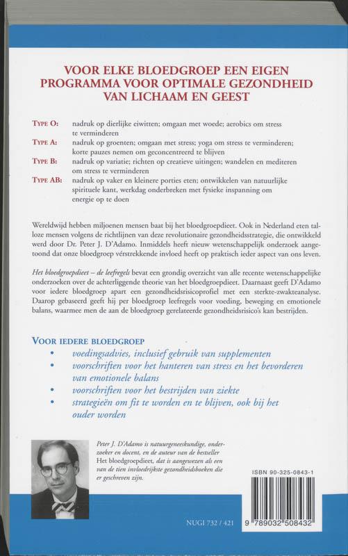 P.J. D`Adamo, C. Whitney,Het bloedgroepdieet - De leefregels