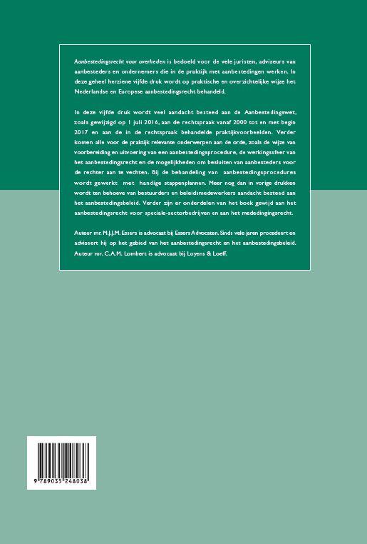 M.J.J.M. Essers, C.A.M. Lombert,Aanbestedingsrecht voor overheden